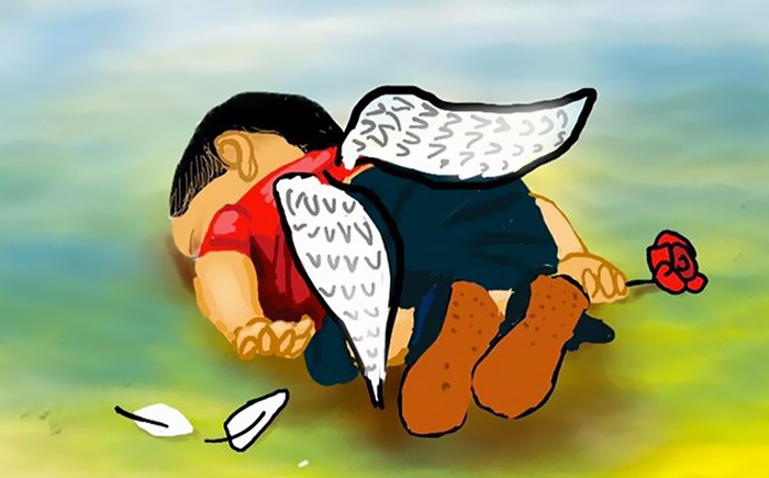 Artists Around The World Respond To Tragic Death Of 3-Year-Old Syrian Refugee - Hell Is The Reality We Living In