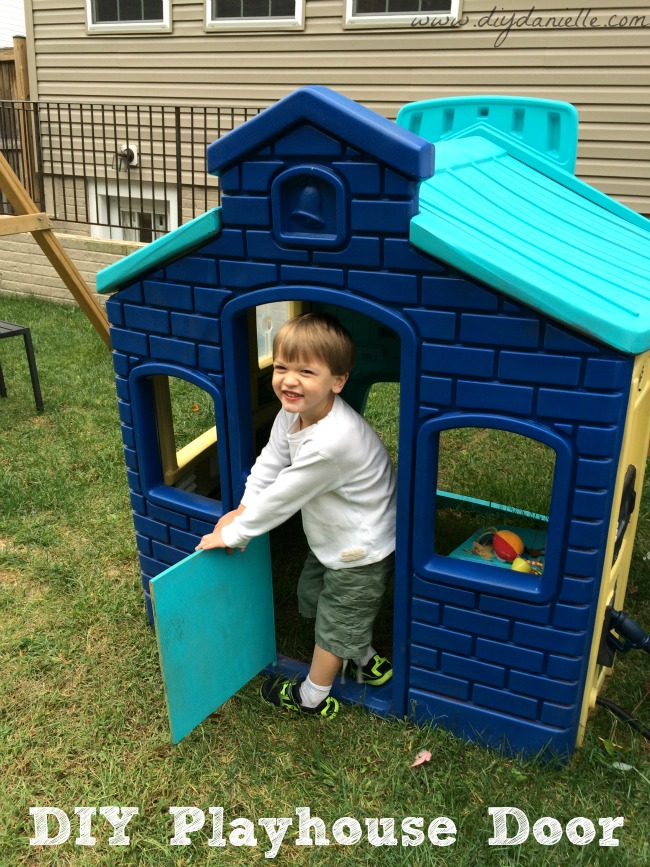 Little Tikes House Replacement Parts : How to make a spare door for plastic playhouse diy