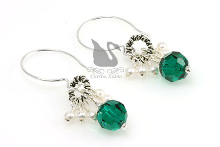 Bali Ring Organ Transplant Awareness Earrings (E238)