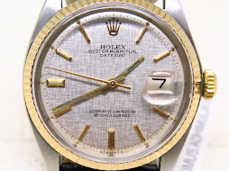 ROLEX OYSTER PERPETUAL DATE JUST LINEN SIGMA DIAL - ROLEX 1601 LINEN SIGMA DIAL