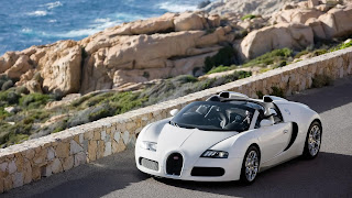 White Bugatti free pc wallpaper