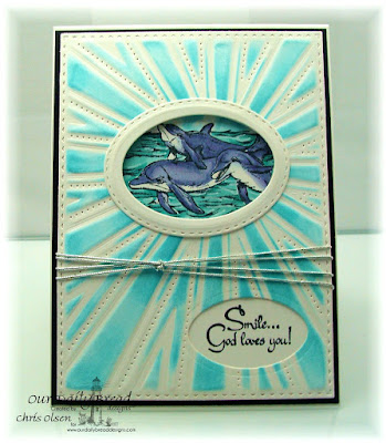 Our Daily Bread Designs Stamp set: Under the Sea, Our Daily Bread Designs Custom Dies: Starburst, Ovals, Stitched Ovals