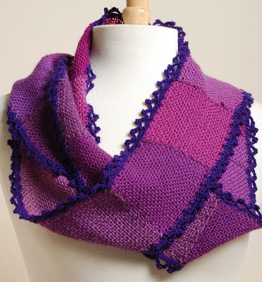 Grape infinity cowl