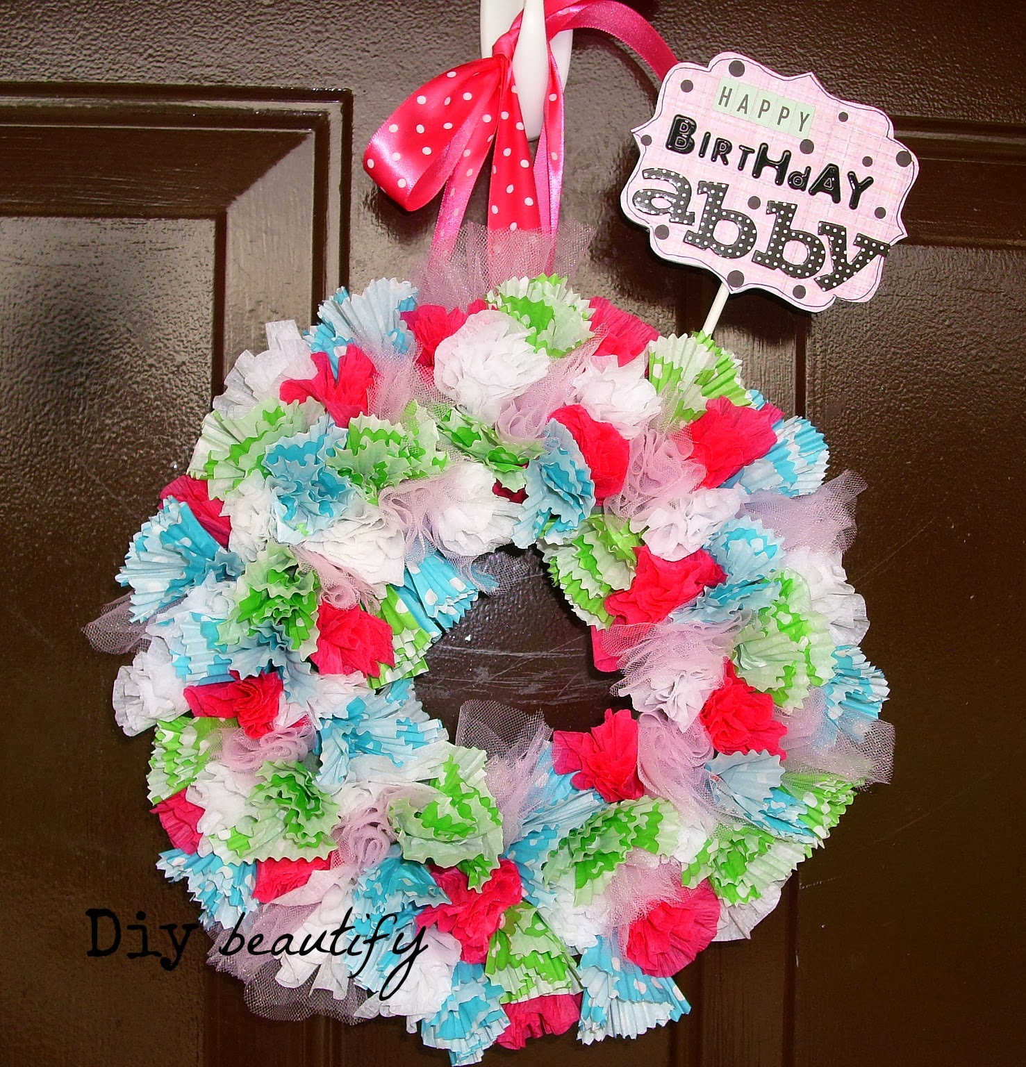 Diy Cupcake Liner Wreath Diy Beautify