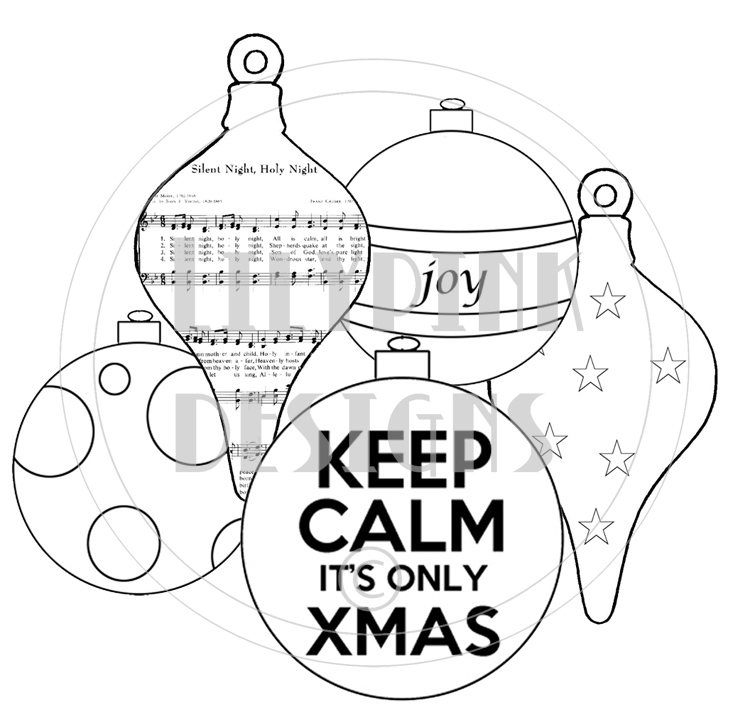 coloring pages christmas baubles - photo#19
