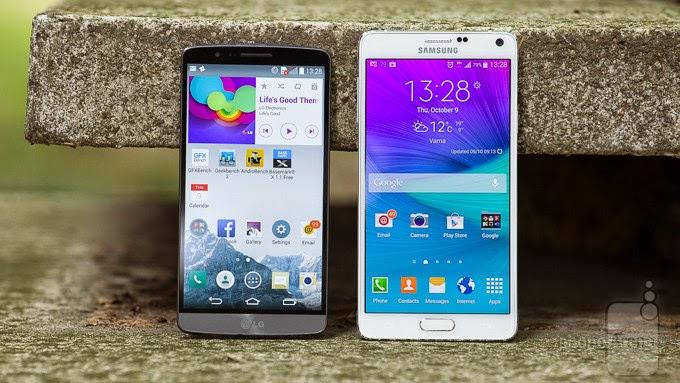 Galaxy Note 4 Terbaru VS LG G3