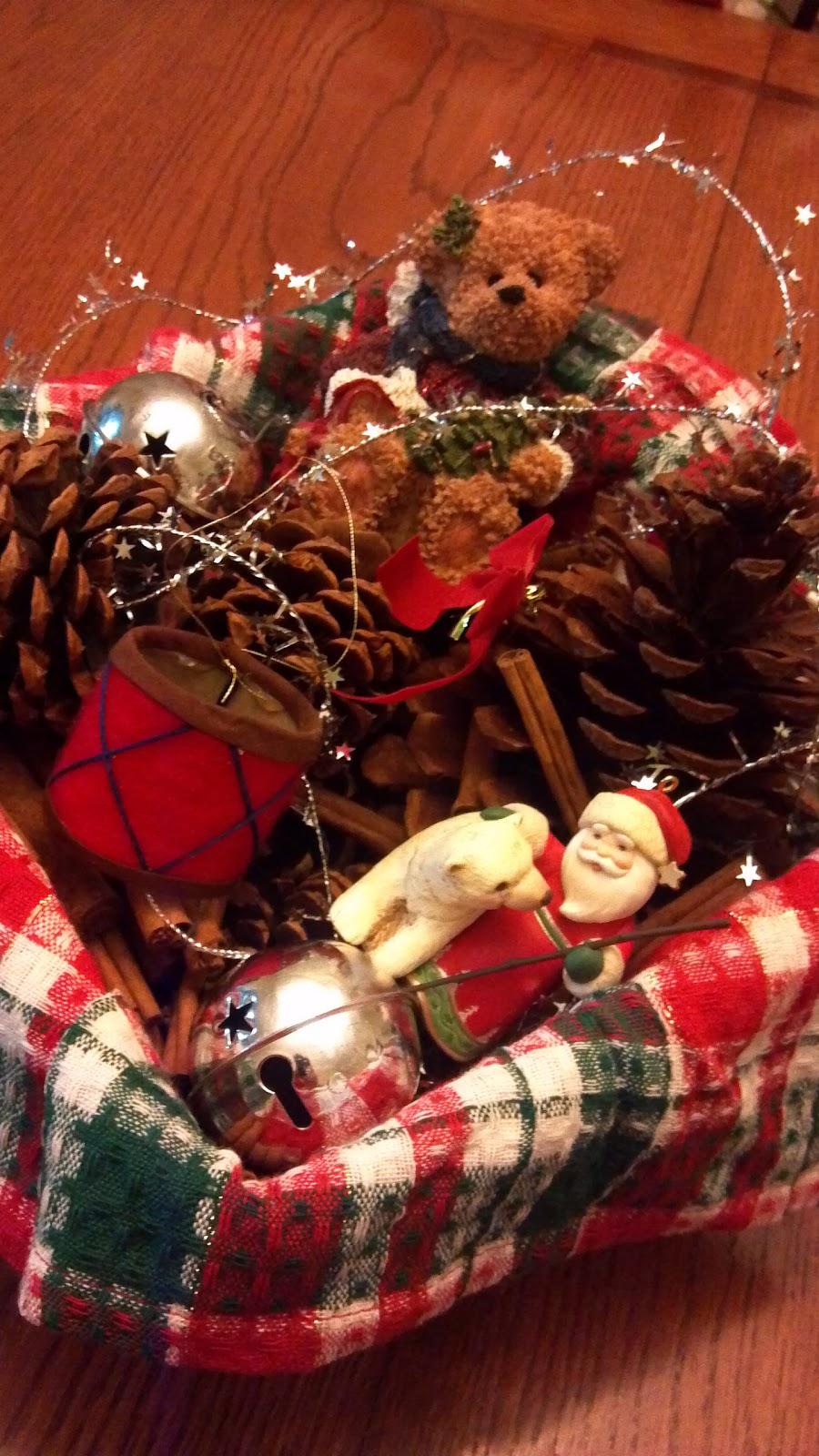 Life more simply sensory christmas basket centerpiece a