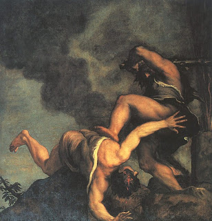 Caín y Abel - Tiziano Vechellio