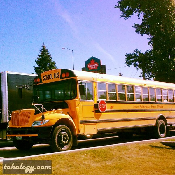 A school bus in Winnipeg Canada