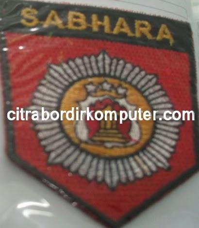logo atribut bordir komputer POLRI SABHARA