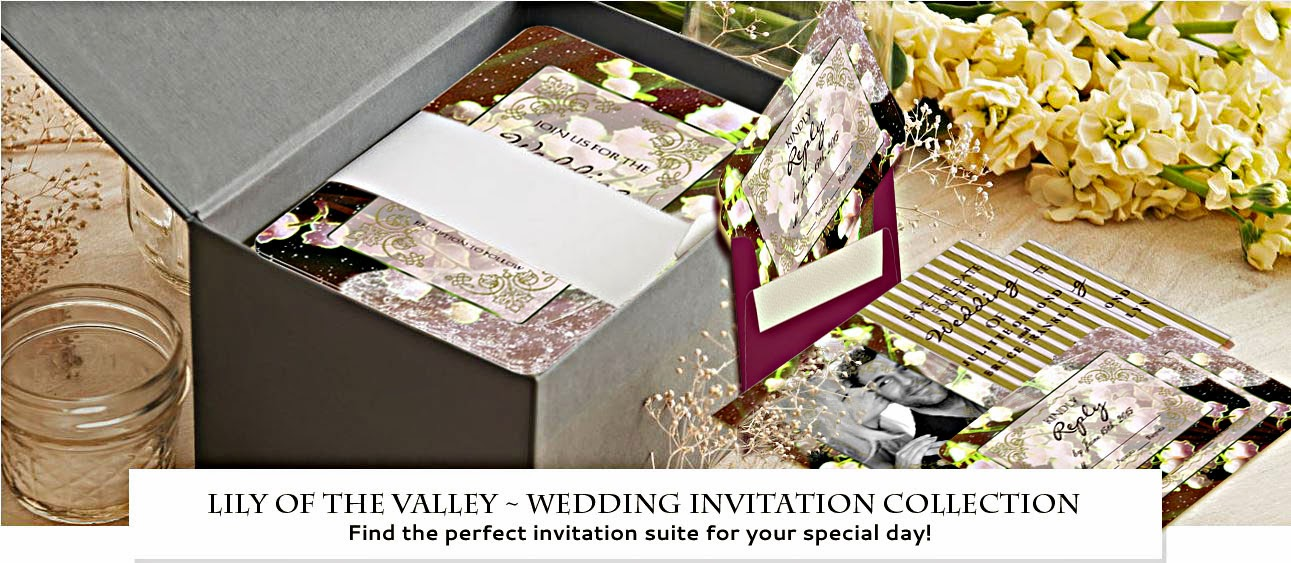Wedding Invitation Collection ~ LILY OF THE VALLEY