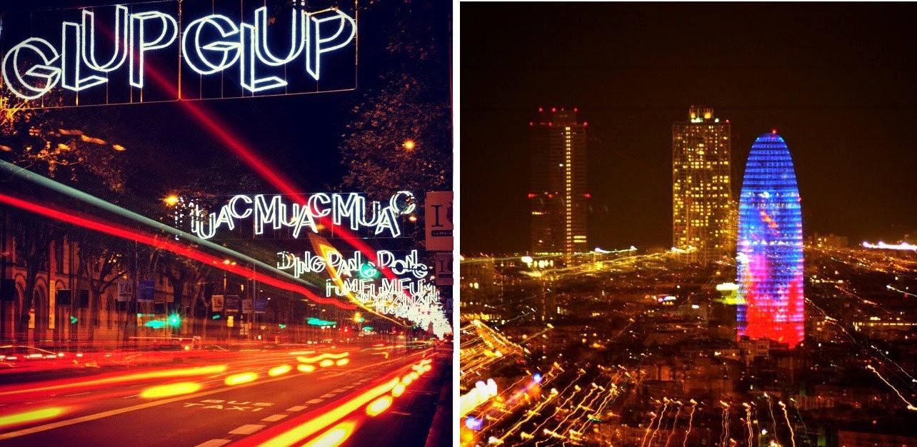 #magicabcn, fotos, barcelona, torre agbar, luces, navidad, noche, ocio nocturno, seguidores
