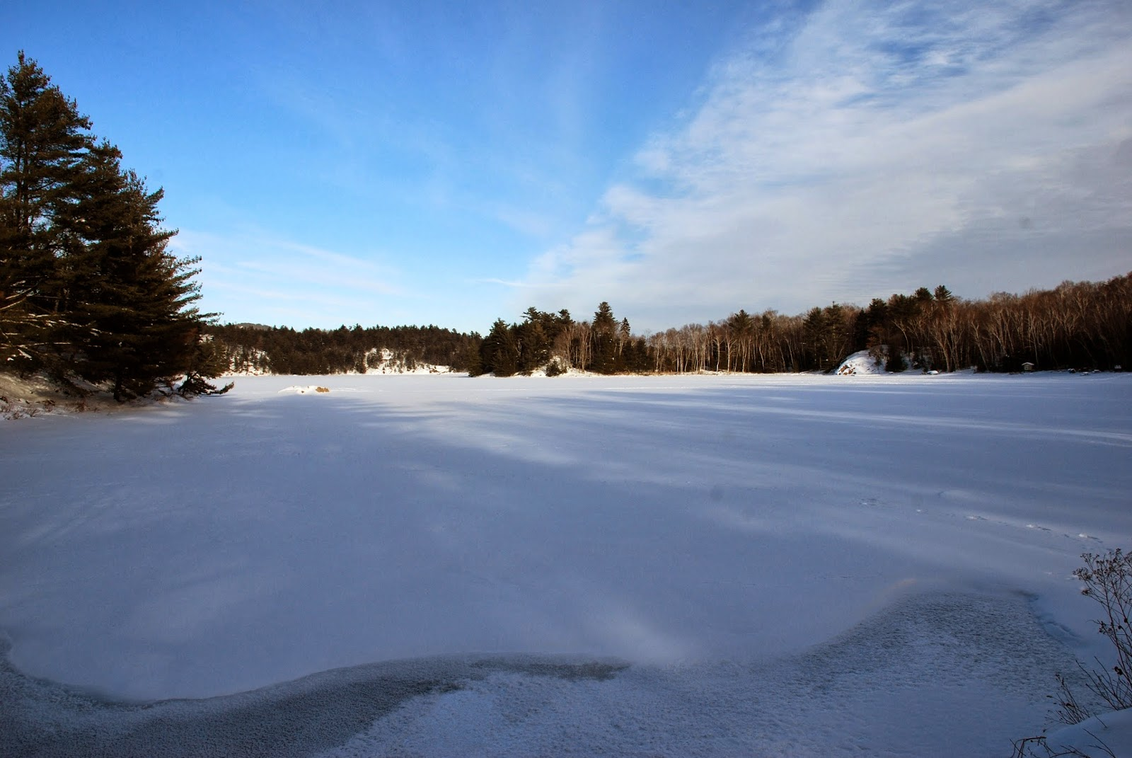 Frozen George Lake in Killarney Provincial Park