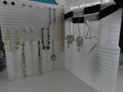 DIY earring organizer