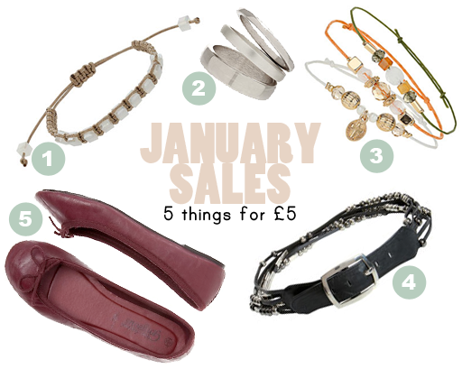 January Sales 5 items for £5 online shopping