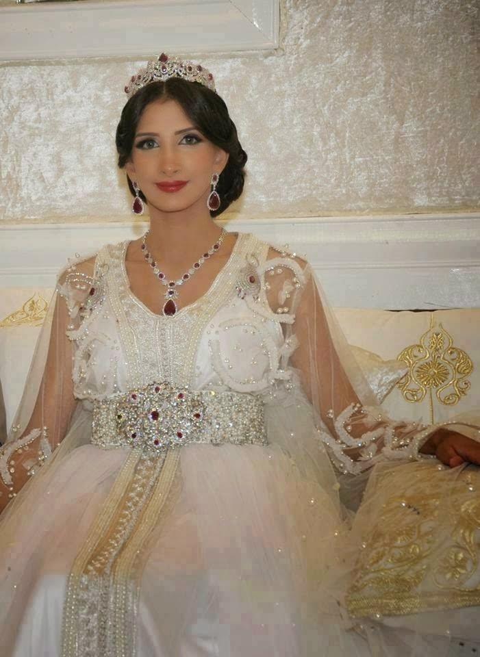 caftan takchita mariage blanc