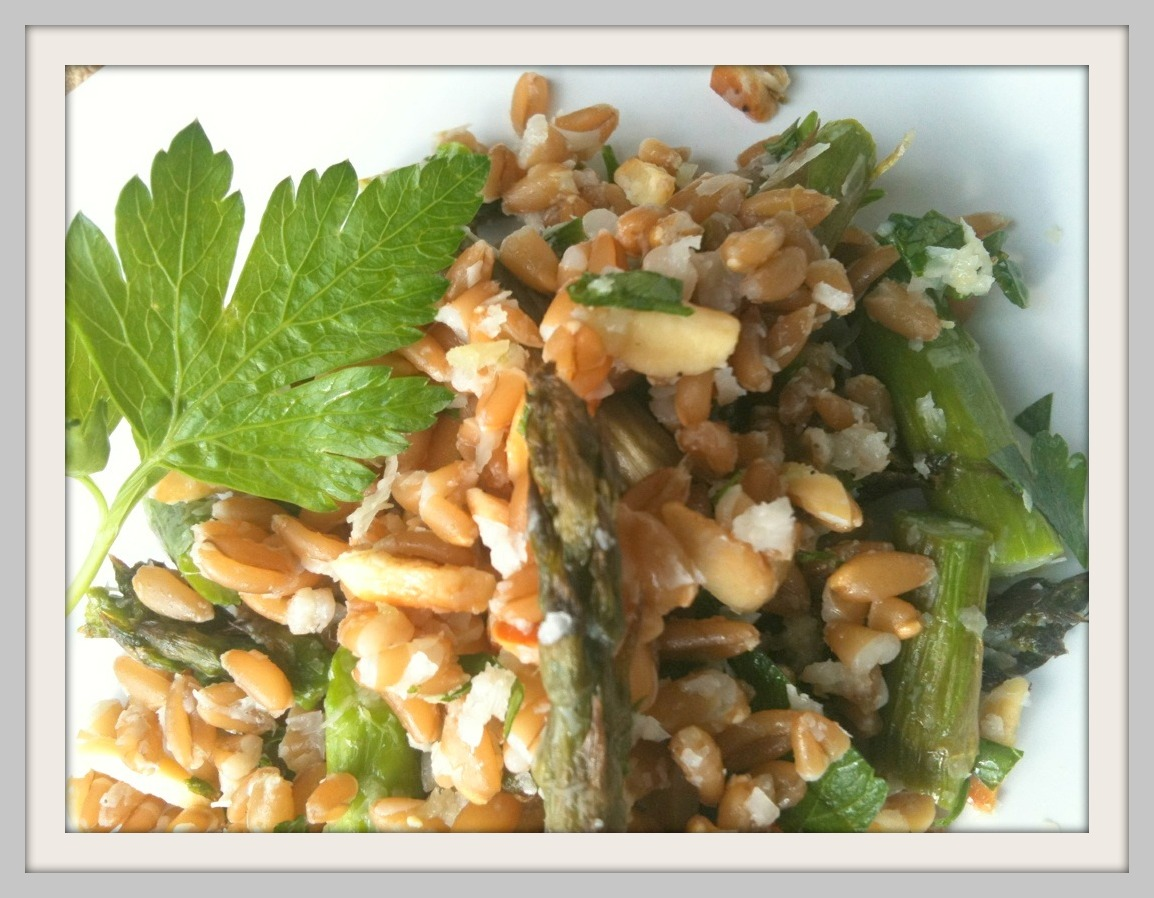 grain girls: Farro & Roasted Asparagus Salad