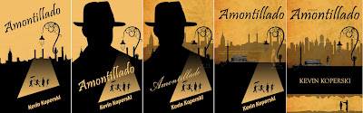 Amontillado Book Cover Iterations