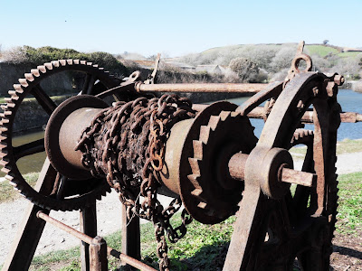 Old workings at Pentewan Harbour Cornwall