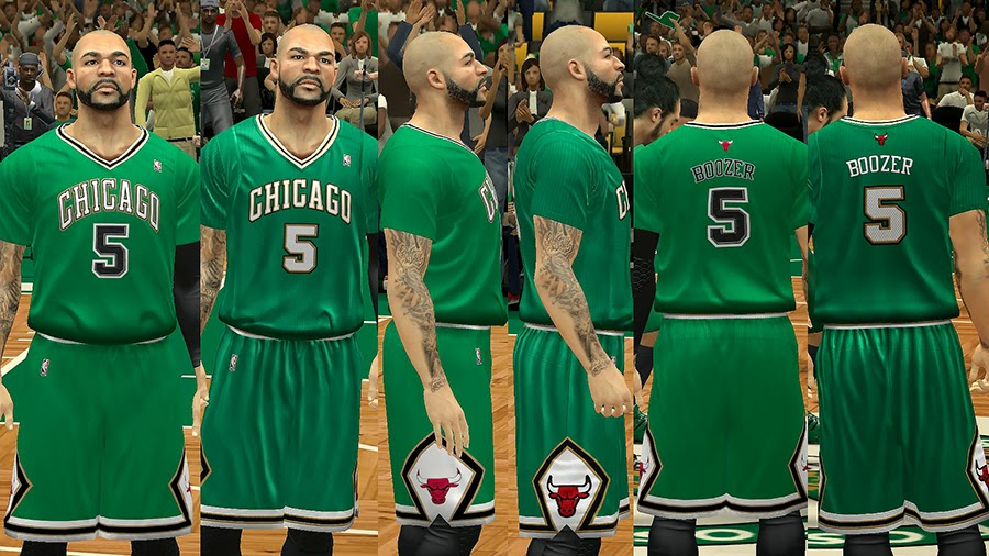 NBA St. Patrick's Day Jersey Chicago Bulls