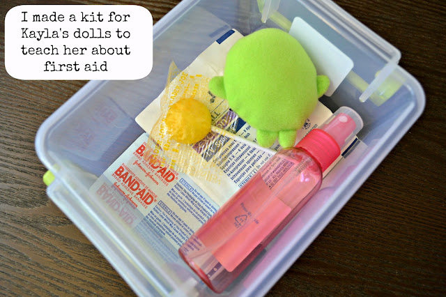 First aid kit for dolls with BAND-AID® bandages #healthyvalue
