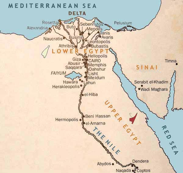 Best Ancient Egypt Maps Ancient Egypt Facts - Map of egypt libyan desert
