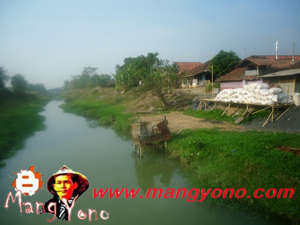Sungai Ciasem dusun Gardu makin menyempit.