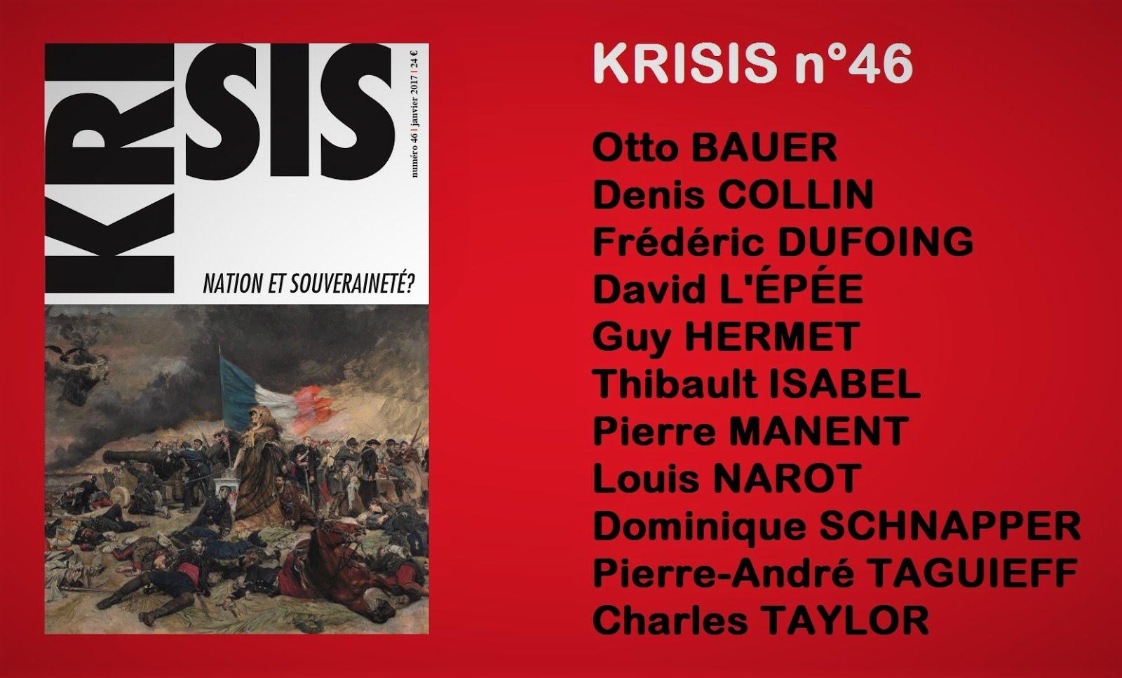 KRISIS N°46 : Nation et souveraineté ?