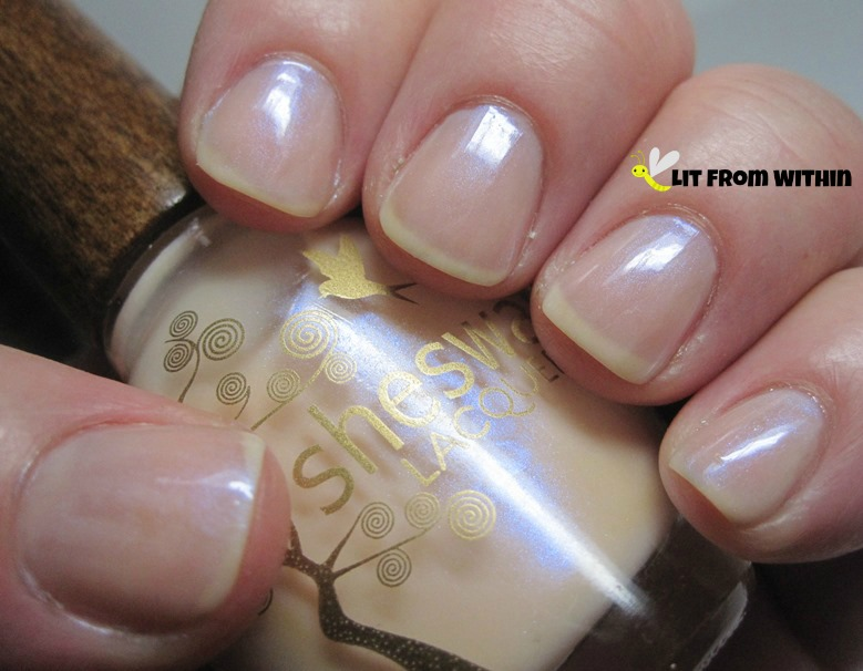 Sheswai Lacquer So Pretty, a very sheer nude