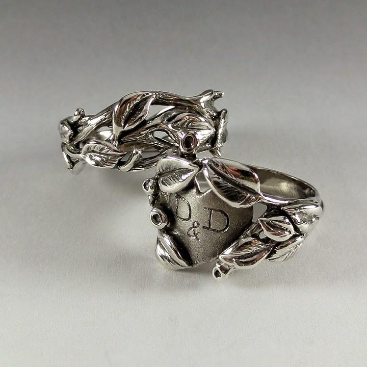 Dawn Vertrees Raw Uncut Rough Engagement Wedding Rings