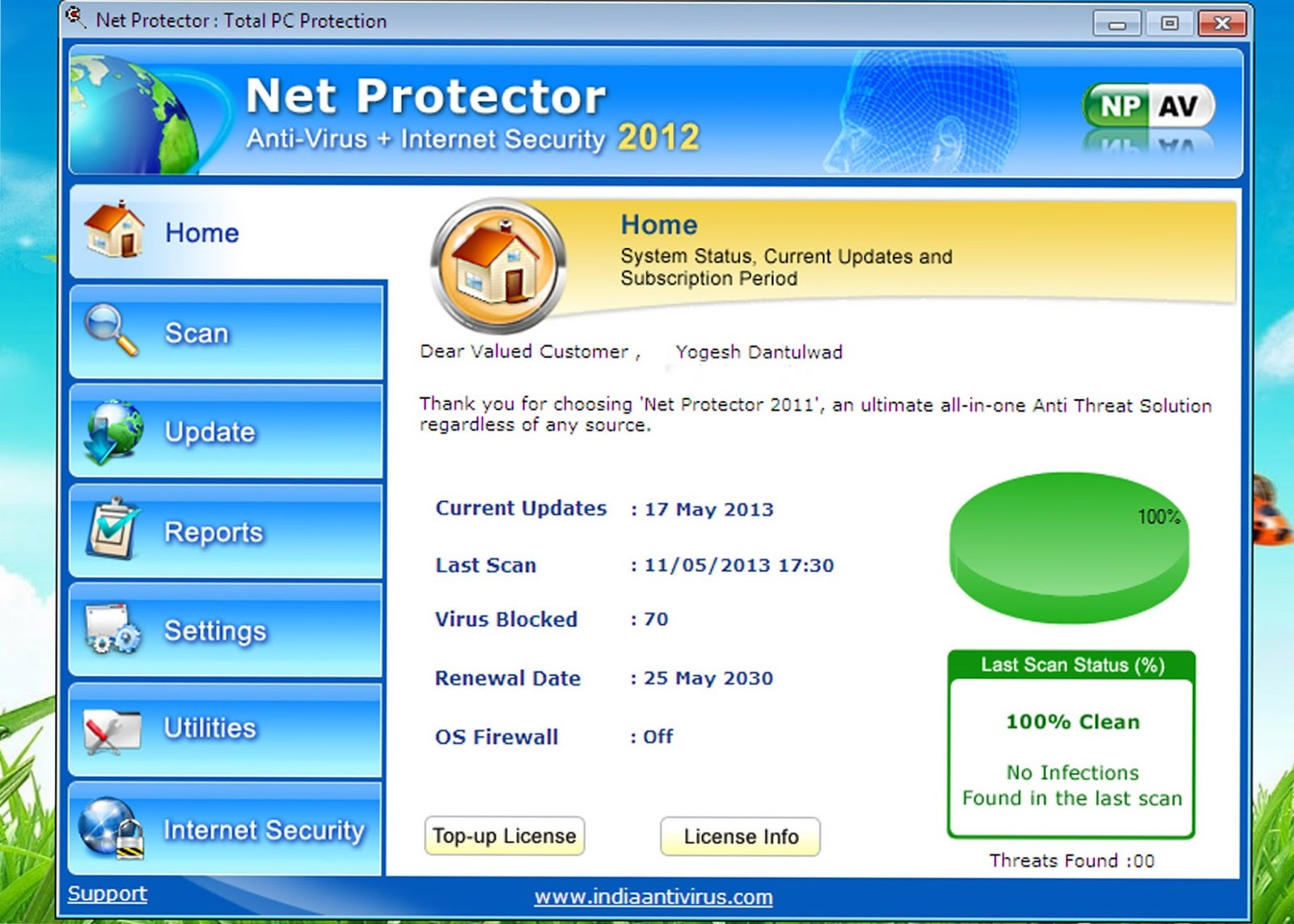 how to make antivirus allow a site