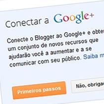 IMAGEM - Unificando perfil do Blogger e Google +