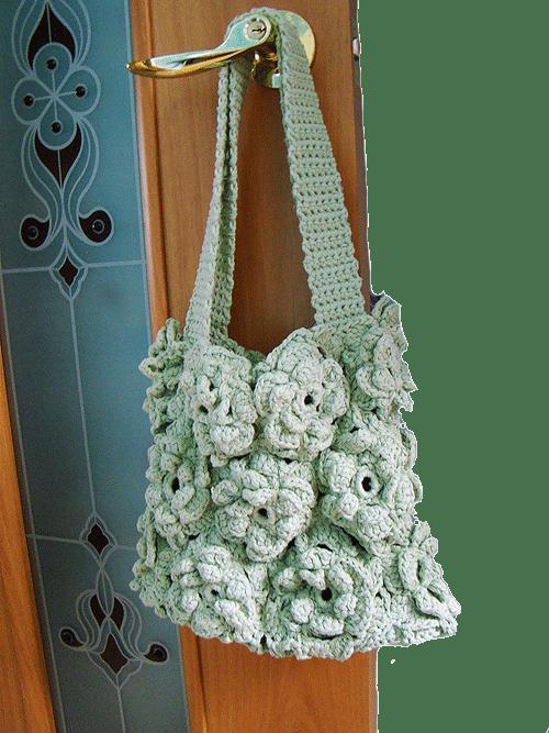 сумка с цветочными мотивами