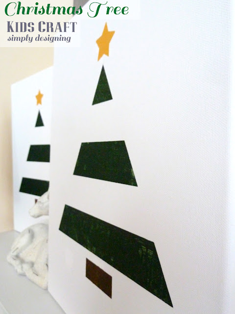 Christmas Tree Art {Kids Craft} | #texturedsurface #christmas #christmascraft #kidscraft