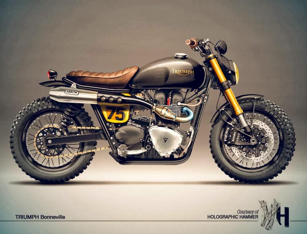 Triumph Cafe Racer : Motogp cafè racer concepts triumph bonneville by