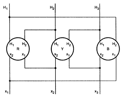 Construction of vector group diagram your electrical home 1 three single phase transformers of additive polarity connected delta delta with 180o angular displacement ccuart