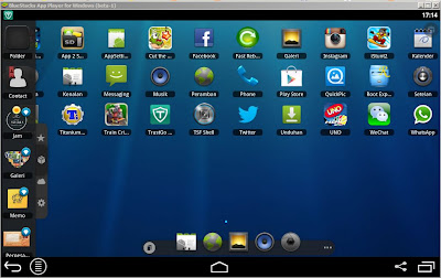 Menu app drawer bluestack