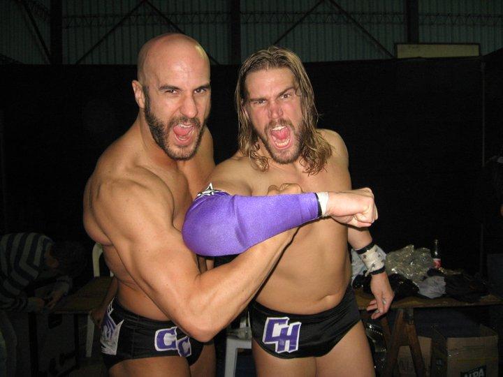 Claudio+Castagnoli+y+Chris+Hero+WWE+King