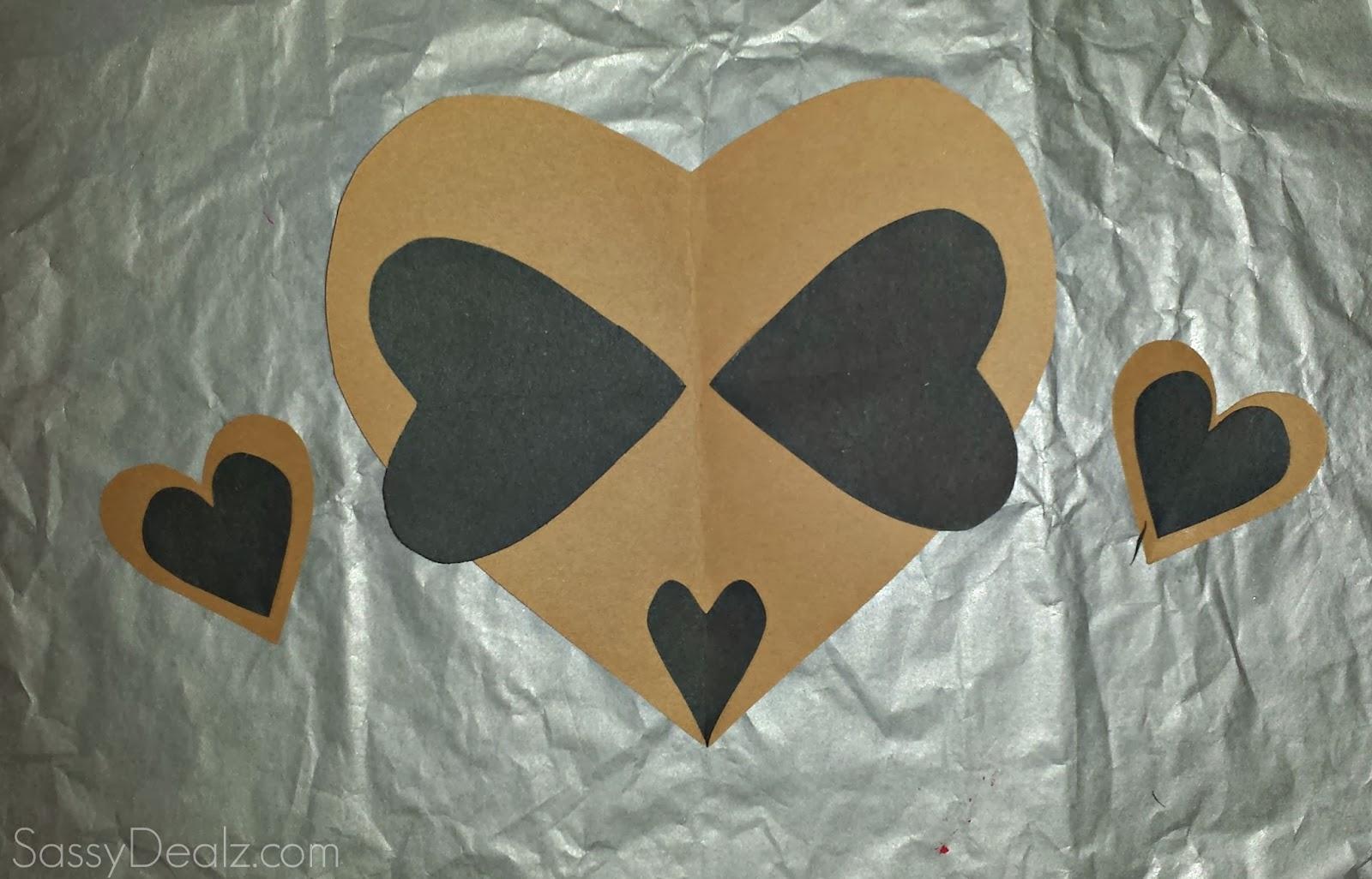 diy heart raccoon craft for kids