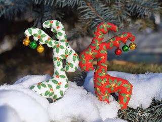 новогодний декор лосики