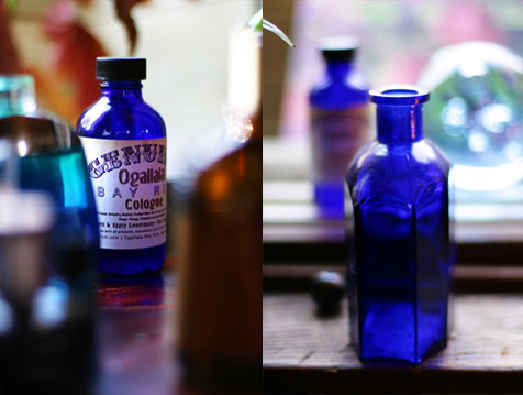 cobalt glass photos by paul cram