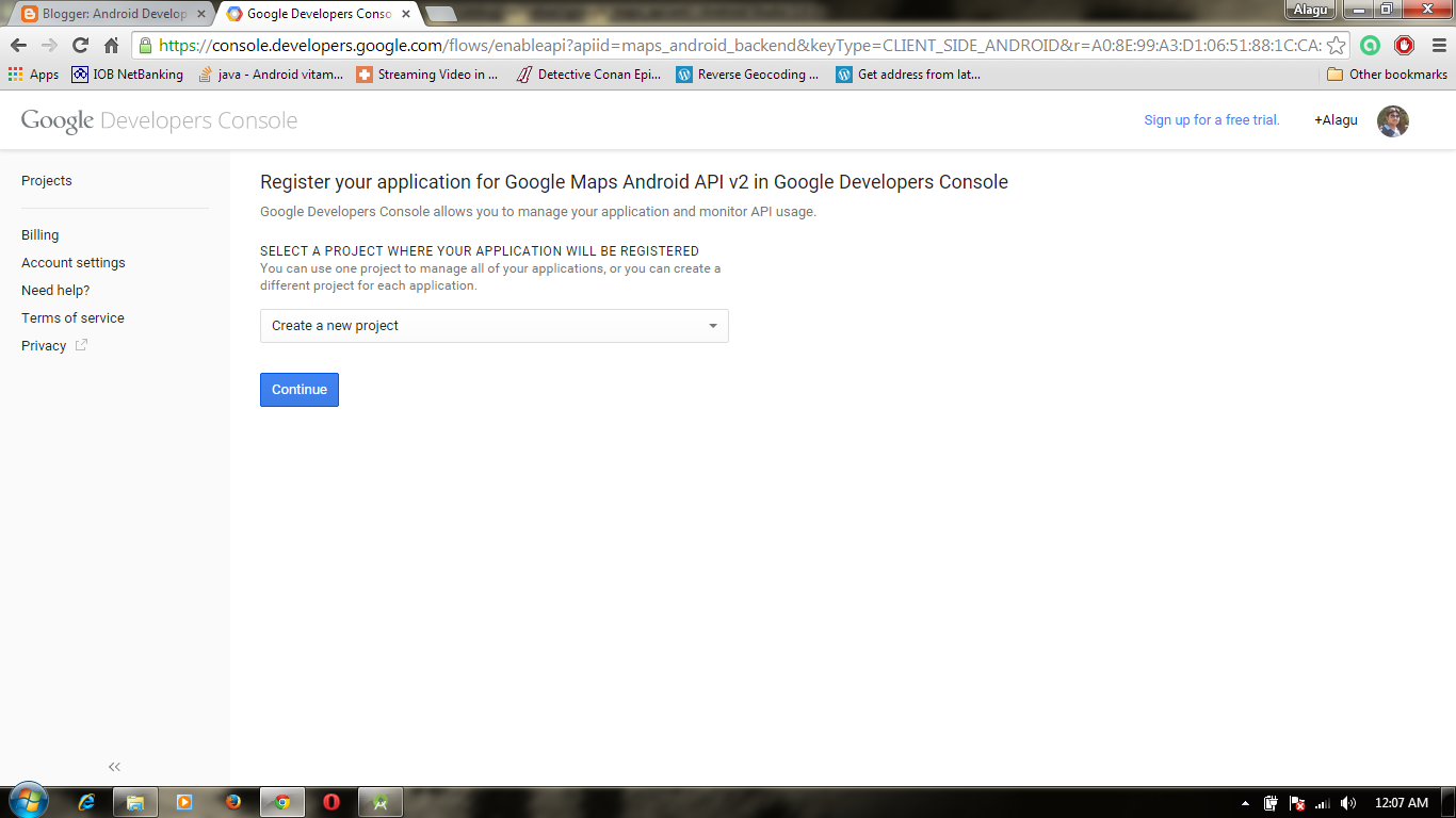 Android develop unit how to create simple maps - Google map api key console ...