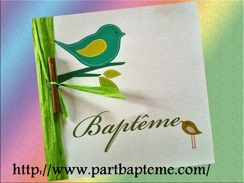 Faire-part de baptême / invitations baptême