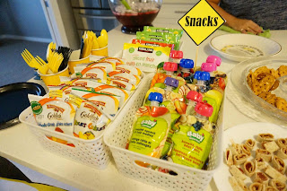 Toddler birthday snack bar