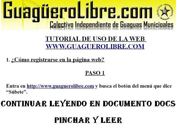 Guaguero Libre (Colectivo Independiente de Guagua), pagina Web