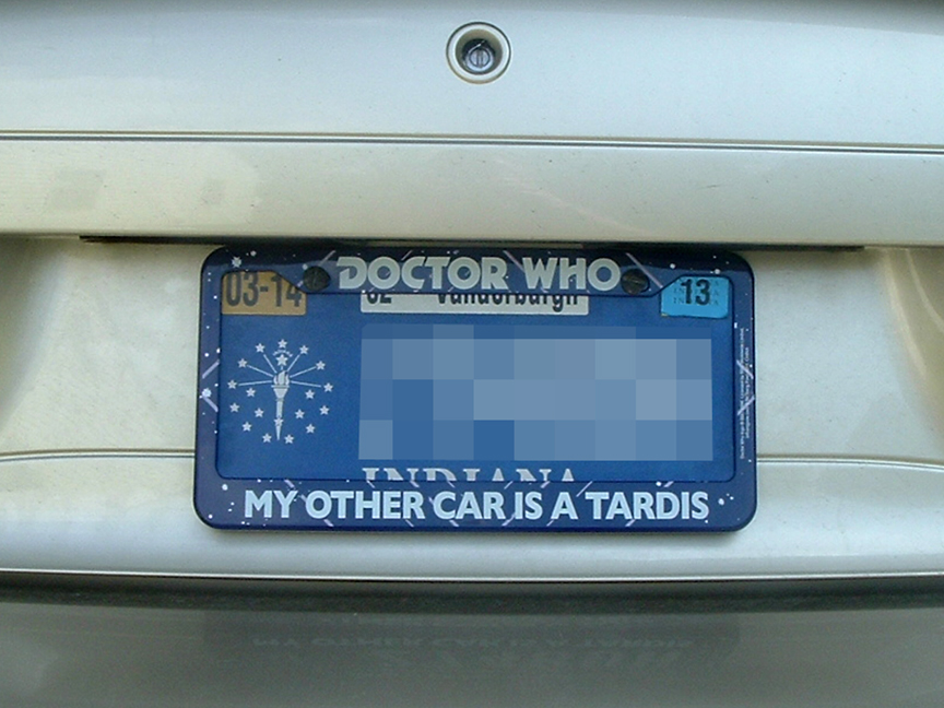im a grown man and i bought this doctor who license plate frame - Doctor Who License Plate Frame