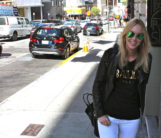 ballin shirt moto jacket street style