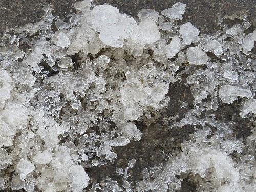 rotting snow
