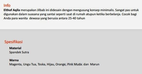 Jual Hijab Elthof Aqila Pekanbaru
