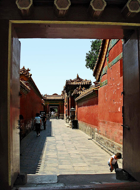 corridor at Forbidden City